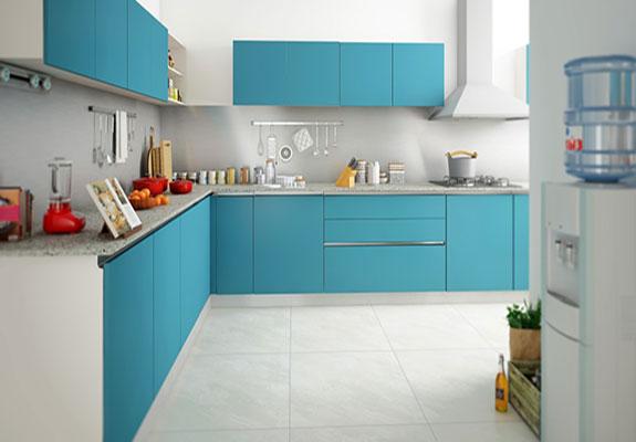 L Shped Modular Kitchens