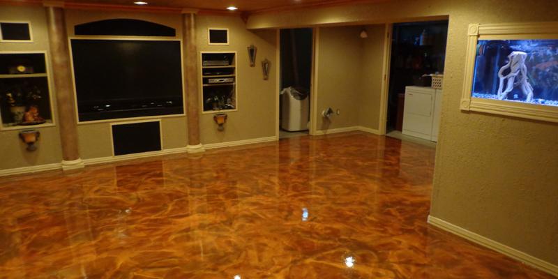 Metallic flooring