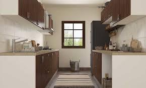Parallel kitchen interior design