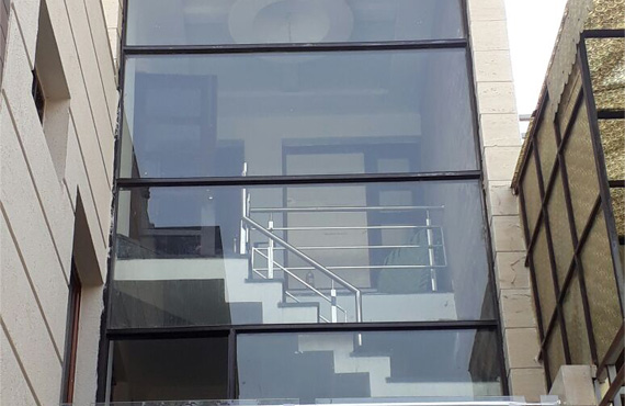 Structure and Steel Railing
