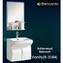 Rubber wood bathroom vanity