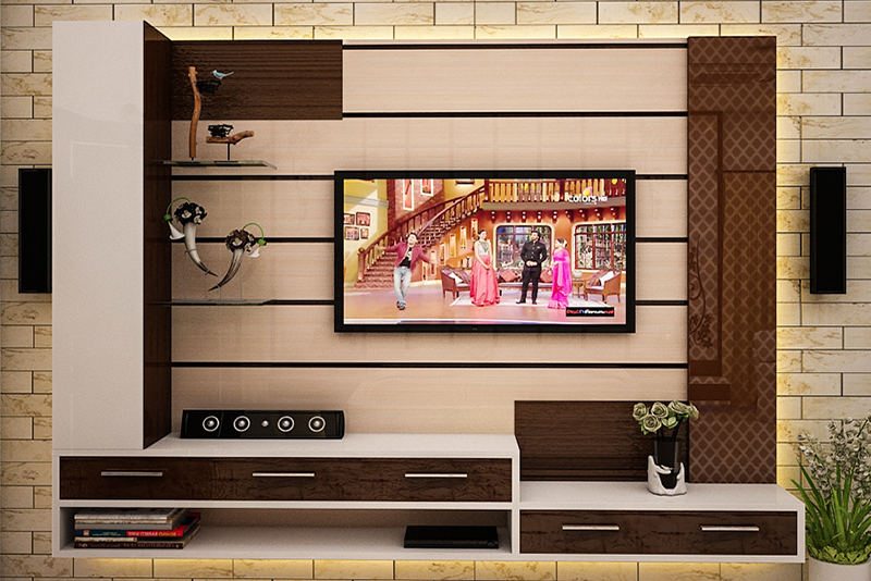 tv room and storage equipment