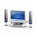 LED LCD Smart TV and Home Theatre
